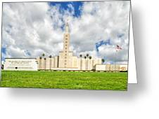 Los Angeles Temple Front Greeting Card