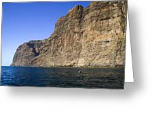 Los Gigantes Cliffs Greeting Card