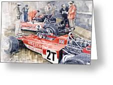 Lotus 49 B Lotus 72  Greeting Card