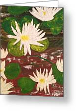 Lotus Flowers Greeting Card by Pretchill Smith