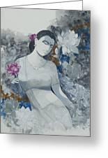 Lotus Grays Greeting Card