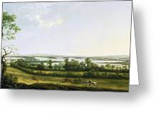 Lough Erne From Knock Ninney - With Bellisle In The Distance Greeting Card