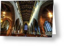 Loughborough Church Ceiling And Nave Greeting Card