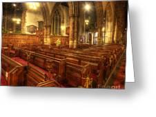 Loughborough Church Pews Greeting Card