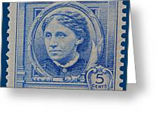 Louisa May Alcott Postage Stamp  Greeting Card