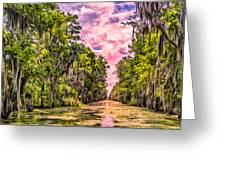 Louisiana Bayou Sunrise Greeting Card