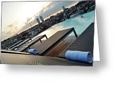 Lounging Poolside Greeting Card