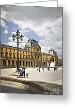 Louvre Museum Greeting Card by Elena Elisseeva