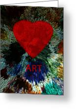 Love Art 3 Greeting Card