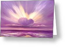 Love At Sunset Greeting Card