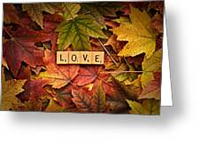 Love-autumn Greeting Card