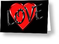 Love Black And Red 1 Greeting Card
