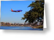 Love Field Landing Greeting Card