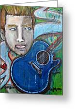 Love For Blue Guitar Greeting Card