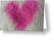 Love Heart  Greeting Card by Heather Hennick