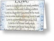 Love Poem In Blue Greeting Card