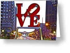 Love In Philadelphia Greeting Card