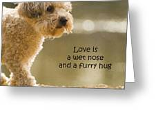 Love Is A Wet Nose And A Furry Hug Greeting Card