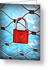 Love Lock And Memories Greeting Card
