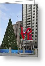 Love Park Philadelphia - Winter Greeting Card
