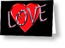 Love Pink And Red  Greeting Card