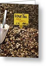 Love Tea Greeting Card by Leslie Leda