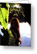 Lovely Lady Evening Light Greeting Card