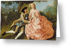 Lovers In A Landscape Greeting Card