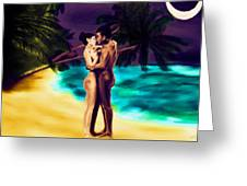 Lovers Under The Stars Greeting Card
