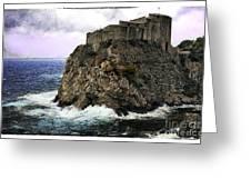 Lovrijenac Tower In Dubrovnik Greeting Card