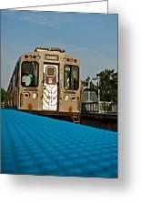 Low Angle Train Greeting Card