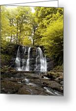 Low Angle View Of A Waterfall In A Greeting Card
