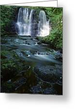 Low Angle View Of A Waterfall Greeting Card