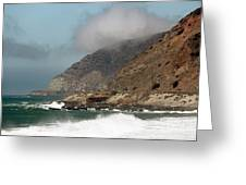 Low Clouds On The Pacific Coast Highway Greeting Card by John Rizzuto