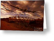 Low Flying Over Rawcliffe Bridge Greeting Card by Nigel Hatton