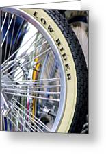 Low Rider And Silver Spokes Greeting Card
