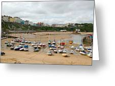 Low Tide At Tenby Greeting Card