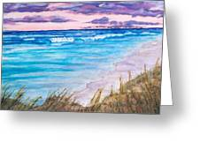 Low Tide Greeting Card by Jeanette Stewart
