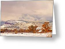 Low Winter Storm Clouds Colorado Rocky Mountain Foothills 6 Greeting Card
