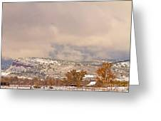 Low Winter Storm Clouds Colorado Rocky Mountain Foothills 7 Greeting Card