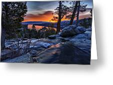 Lower Eagles Falls Greeting Card