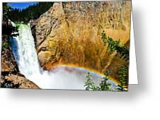 Lower Falls Rainbow Le Greeting Card