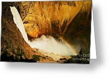 Lower Falls Yellowstone River Greeting Card