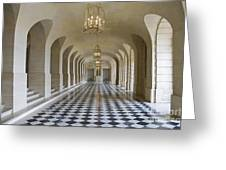 Lower Gallery Versailles Palace Greeting Card