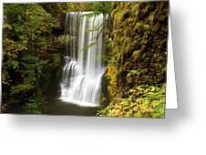 Lower South Falls At Silver Falls Greeting Card