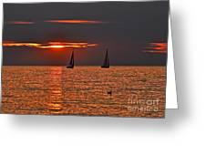Red Maritime Dream Greeting Card