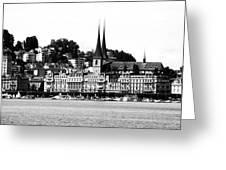 Lucerne In Monochrome Greeting Card