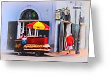 Lucky Dogs - Bourbon Street Greeting Card