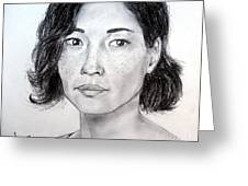 Lucy Liu Portrait Greeting Card
