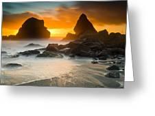 Luffenholtz Winter Sunset 1 Greeting Card